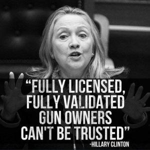 hillary gun owners